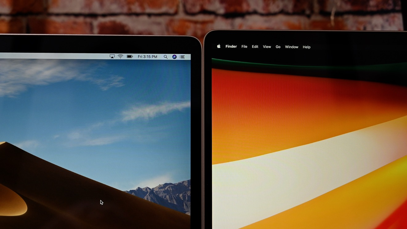 There are now smaller bezels on the 16-inch MacBook Pro