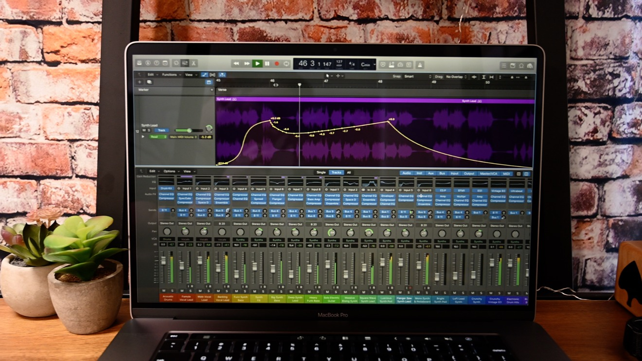 MacBook Pro 16 inch with audio studio