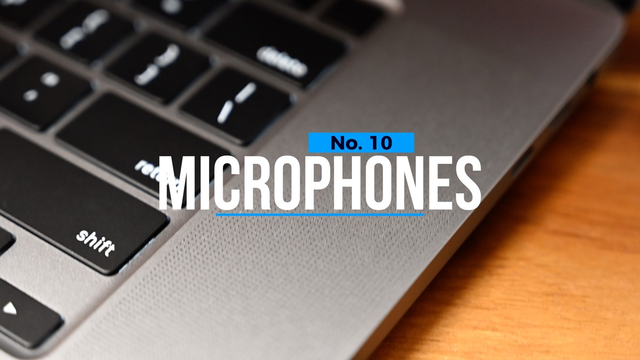 New microphones grace the 16-inch MacBook Pro