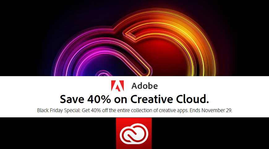 Black Friday starts now at Adobe with discounts on Creative Cloud plans