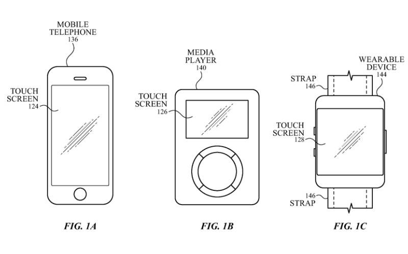 Detail from an Apple patent regarding using wearables to control audio