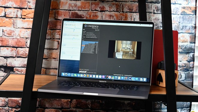 Cinebench R20 on the 16-inch MacBook Pro