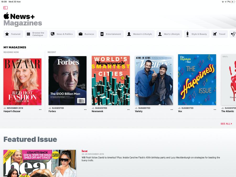 Magazines on Apple News+