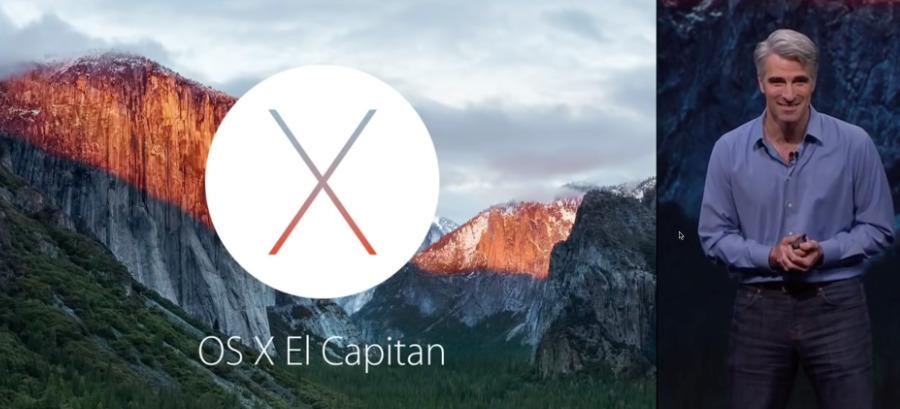 Craig Federighi introducing macOS El Captain back in 2015