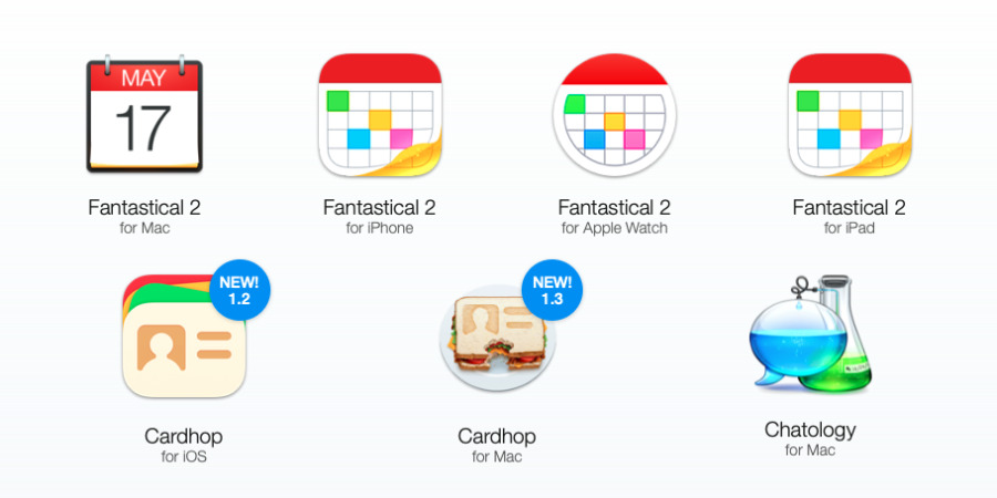 Fantastical 2, in all its many forms, is 20% off, as is Cardhop and Chatology