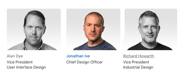 There used to be three key designers on Apple's Leadership page. Ive was the last to be removed.