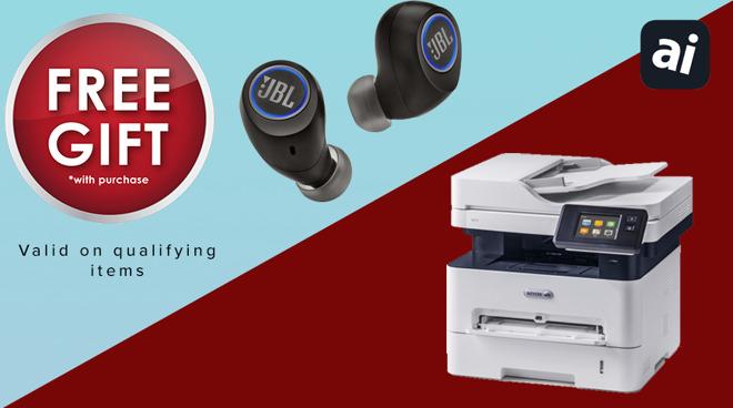 Free JBL earbuds with MacBook Air