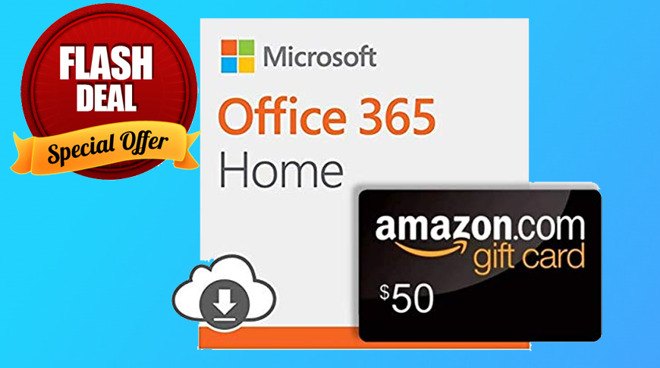 Deal alert: Free $50 Amazon gift card with Office 365 today