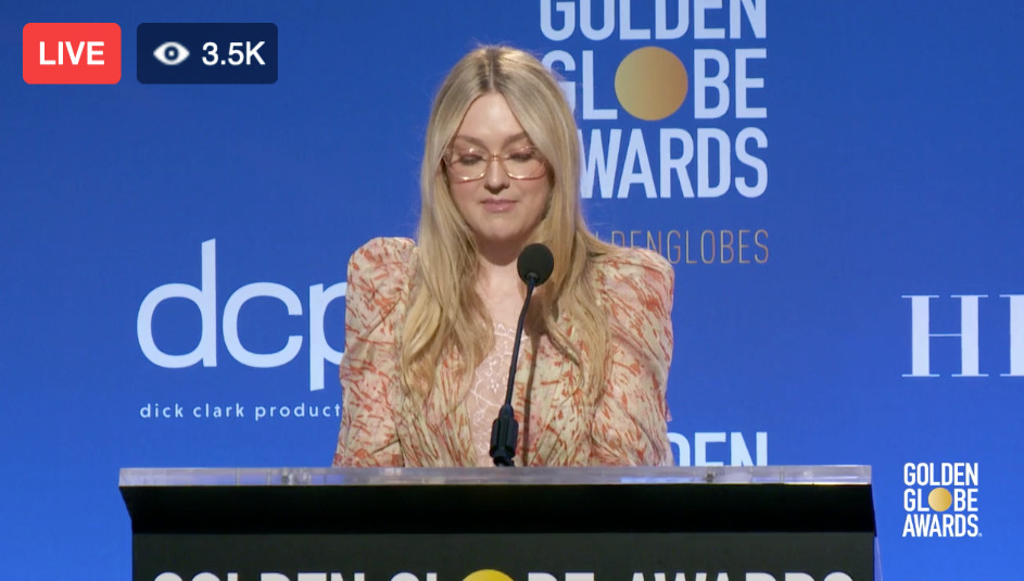 Dakota Fanning announcing