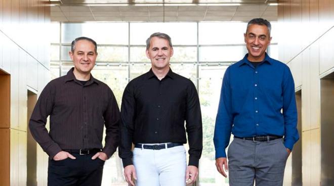 Nuvia co-founders, L-R: John Bruno, Gerard Williams III, and Manu Gulati