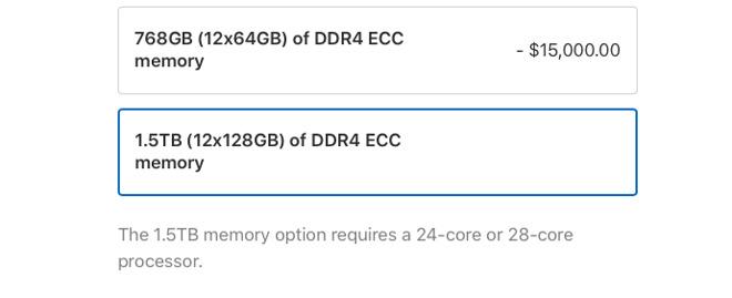 Certain RAM configurations demand you get certain processors