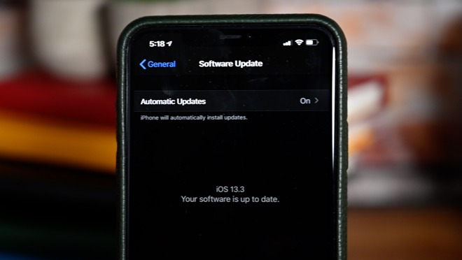 Apple's most recent iOS 13.3 update
