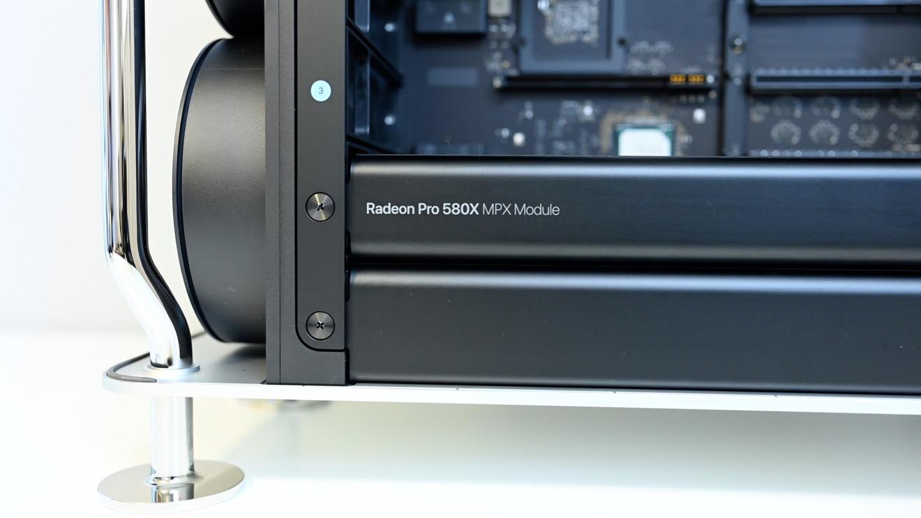 A Radeon Pro 580X MPX module