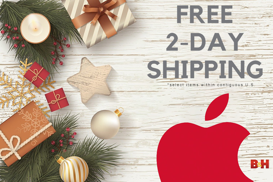 Free 2 day shipping on Apple products