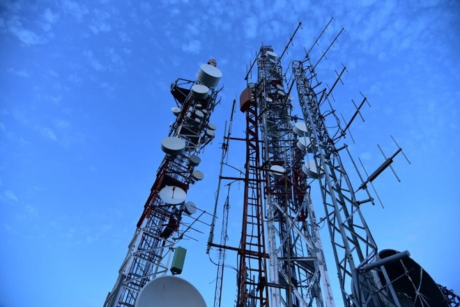A cellphone tower collection.