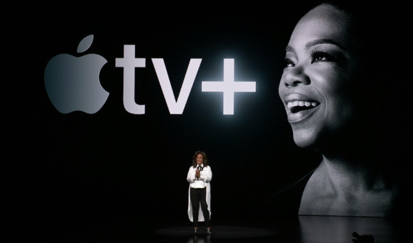 Oprah Winfrey at the launch of Apple TV+
