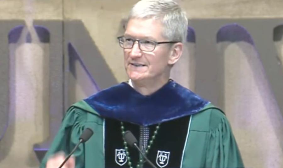 Tim Cook speaking at Tulane University