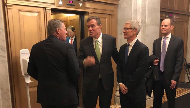 Tim Cook lobbying in Washington, DC