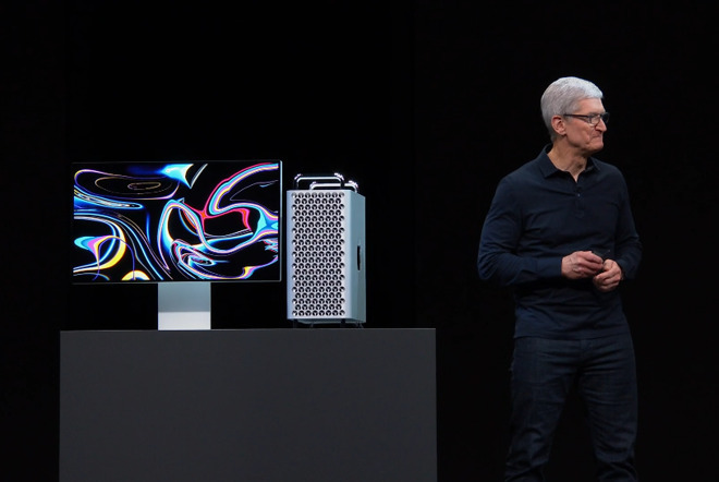 Tim Cook looking like he's wondering if anyone will buy the new Mac Pro. They will.