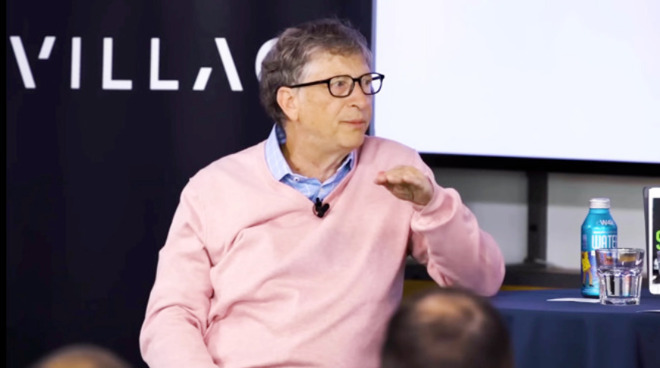 Bill Gates saying everyone would fall under Steve Jobs's spell, except of course himself