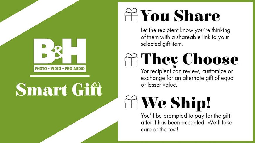 BH Smart Gift last minute digital gift feature