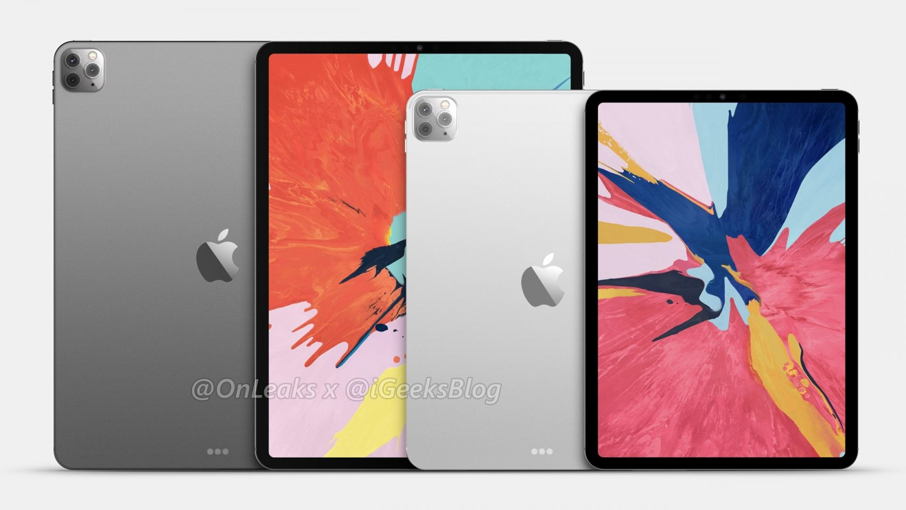 2020 iPad Pro renders show triple-camera bump and glass back