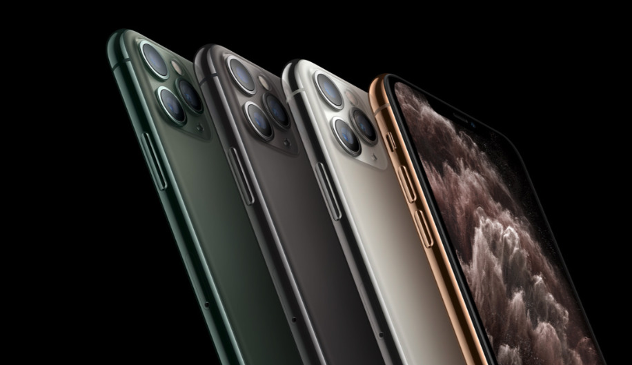 All four colors that Seiko Advance currently provides for the iPhone 11 Pro and iPhone 11 Pro Max (Source: Apple)