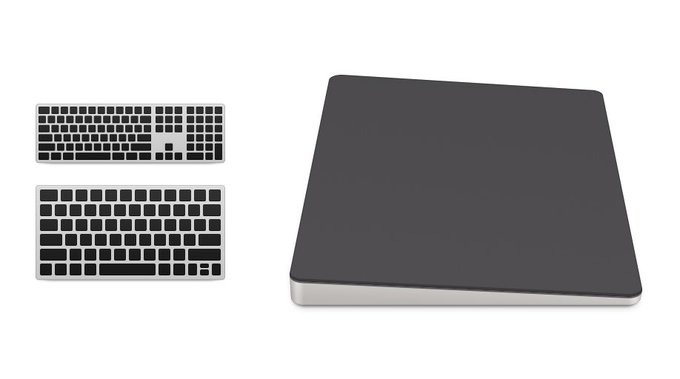 Images of sliver and black Mac Pro peripherals were found In macOS Catalina