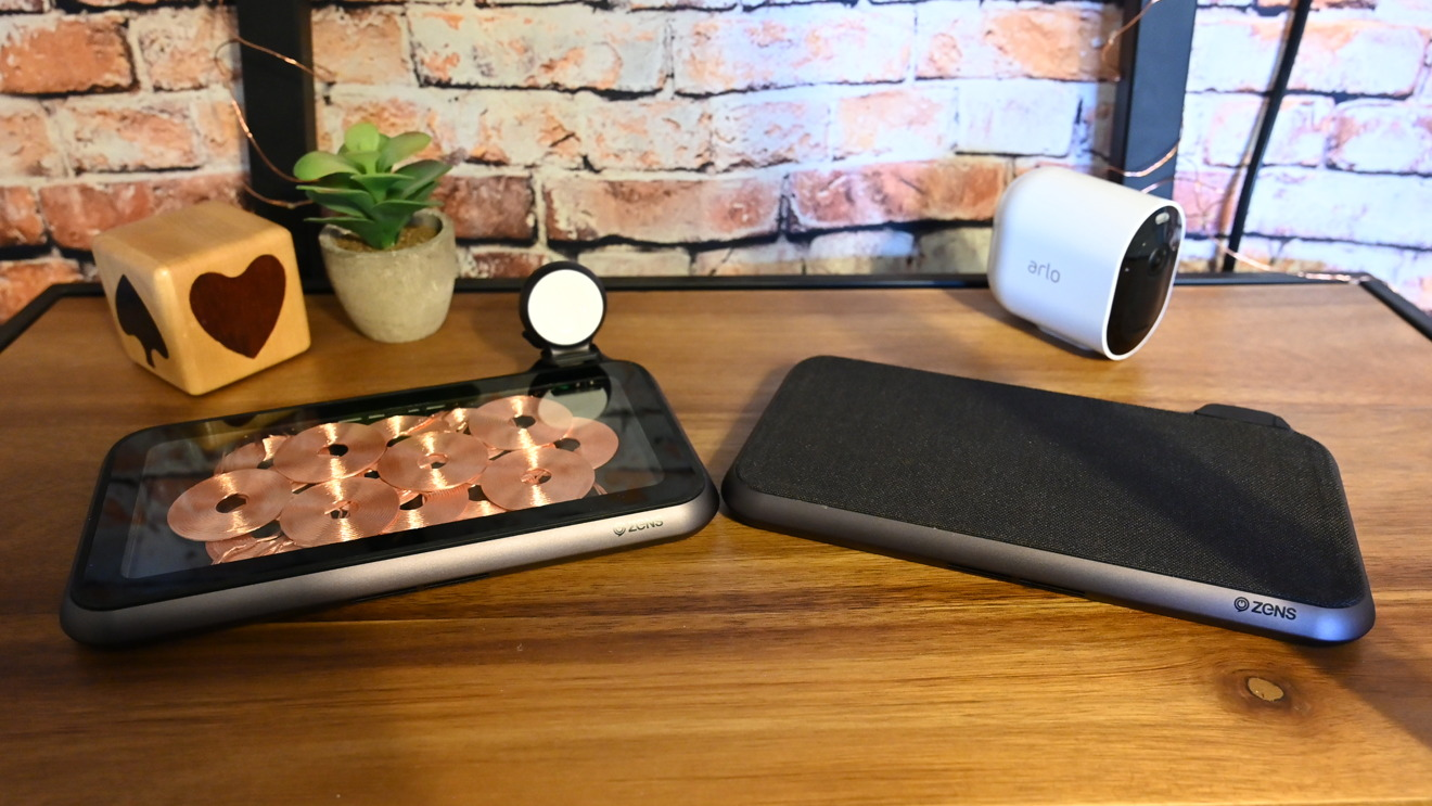 The glass and fabric versions of the Zens Liberty free placement wireless charger