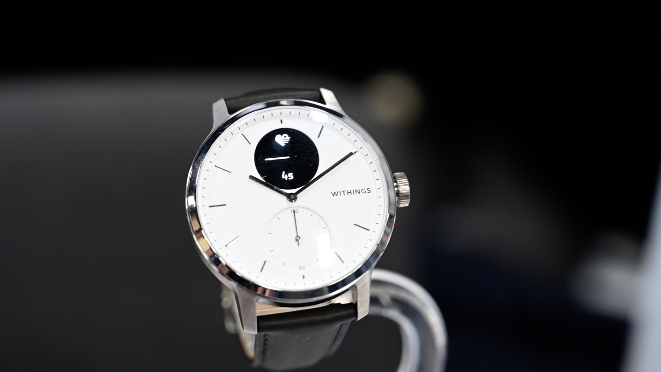 Withings ScanWatch taking an ECG