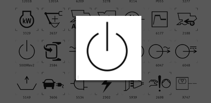The familiar power/standby icon that Apple uses is actually one of a set by the ISO