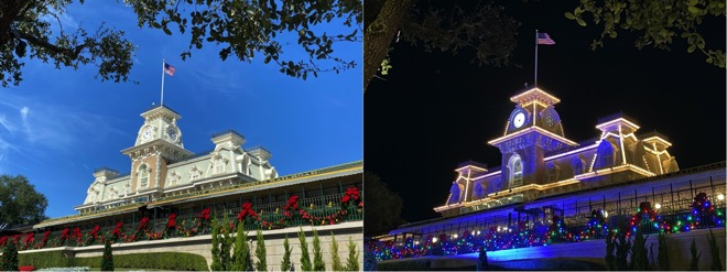 Disney World's train station shot in the day and night by AppleInsider