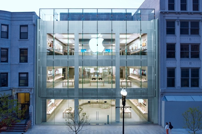 The Back Bay Apple Store in Boston