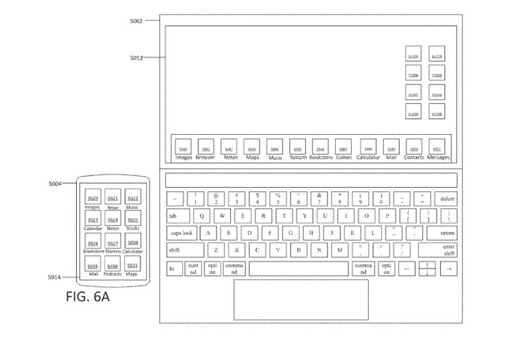 Detail from the new patent which includes one description of the laptop screen being touch-sensitive