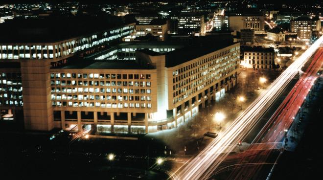 The FBI headquarters: The J. Edgar Hoover Building