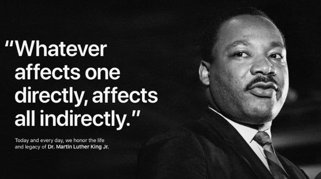 Apple Tim Cook Honor Dr Martin Luther King Jr Appleinsider