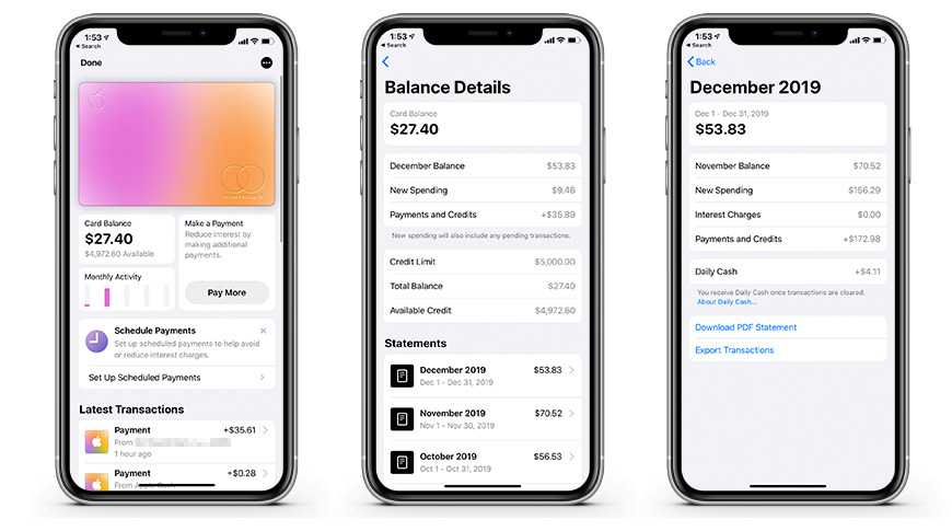 How to export your Apple Card monthly transactions