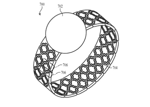 Detail from the patent regarding Watch bands that adjust their fit automatically