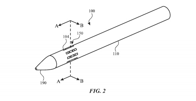 An example of the slitted stylus from the patent application
