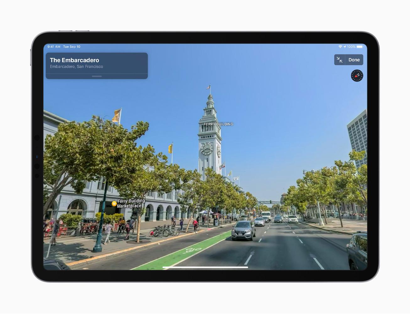 Apple's Look Around, on the iPad