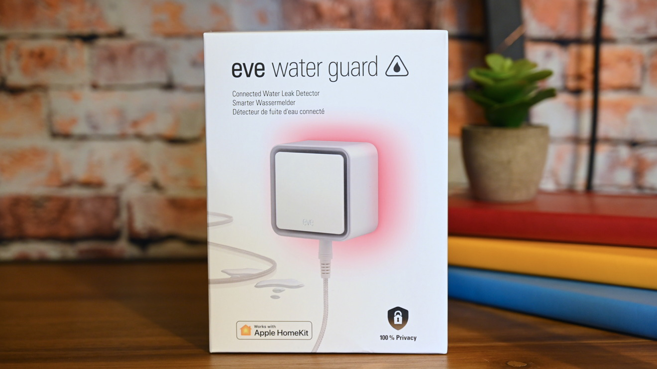 The box of the Eve Water Guard