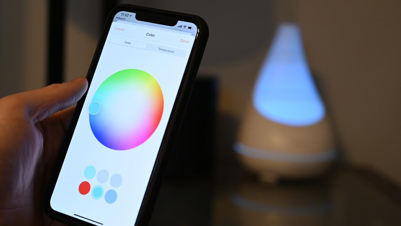 Controlling the LED light inside the Vocolinc Flowerbud through HomeKit