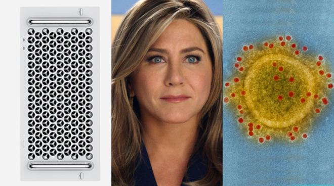 January 2020 for Apple. L-R: Rack-mounted Mac Pro, Jennifer Aniston in