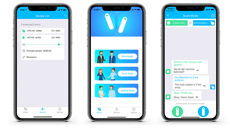 WT2 Plus app