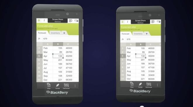 The BlackBerry 10 OS, as shown by RIM in mockups