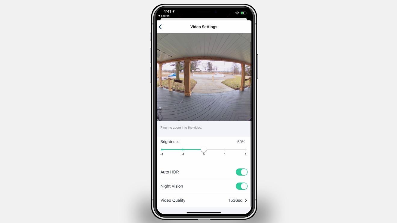 Arlo Video Doorbell video settings