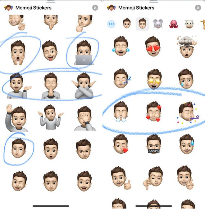 Nine new Memoji stickers