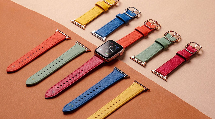 Casetify Dual-color Leather Watch Band