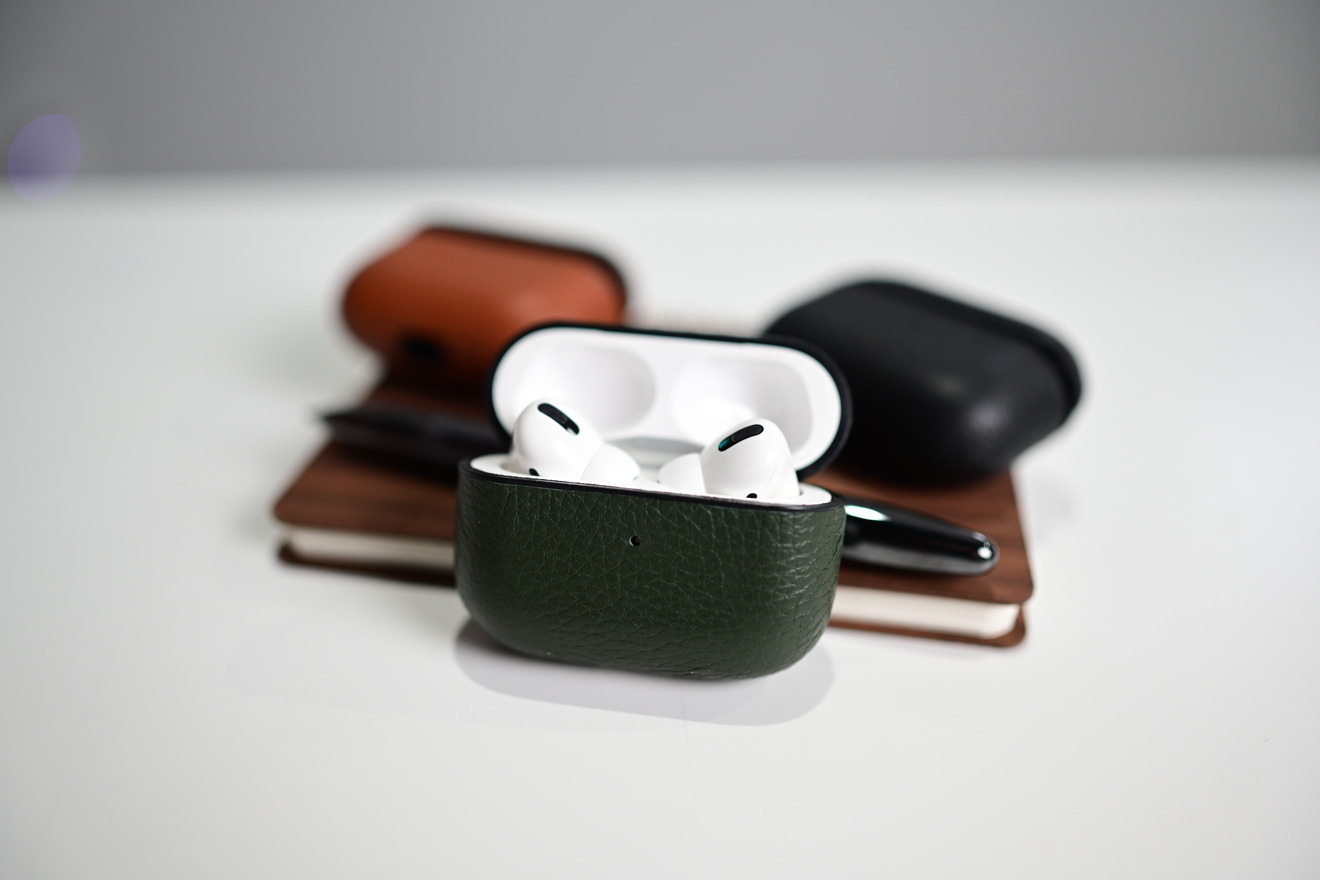 Woolnut leather AirPods Pro cases