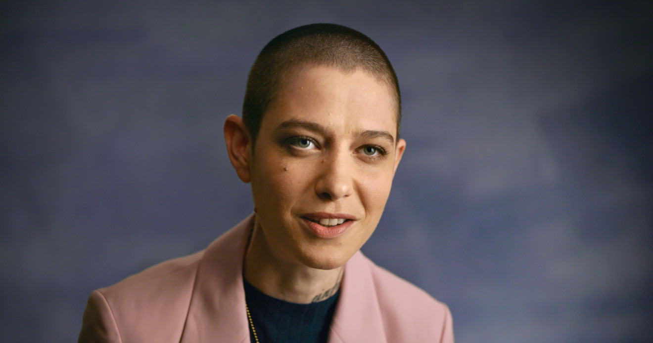 Actor Asia Kate Dillon, one of the narrators of Apple TV+'s 'Visible: Out on Television'